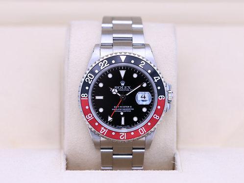 Rolex GMT Master II 16710 Coke - U Serial Tritium - Box & Papers