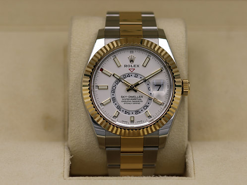 Rolex Sky-Dweller 326933 Two-Tone White Dial - 2019 Box & Papers