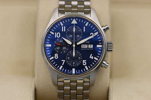 IWC Pilot's Chronograph IW377717 Le Petit Prince Blue Dial 43mm - Box & Papers