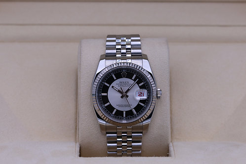 Rolex DateJust 116234 36mm Tuxedo Dial Jubilee - Box & Papers
