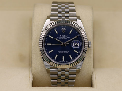 Rolex DateJust 41 126334 Blue Dial Jubilee - Box & Papers