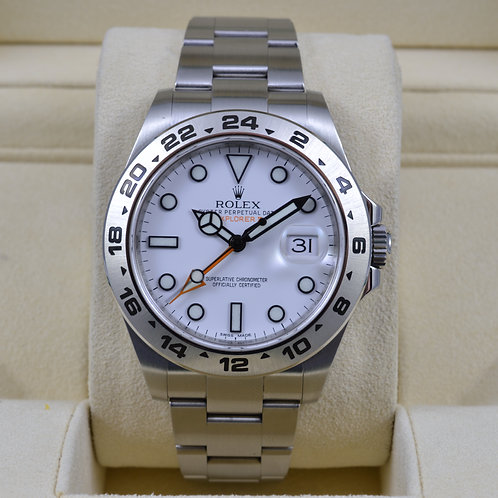 Rolex Explorer II 216570 White Dial - Box & Papers