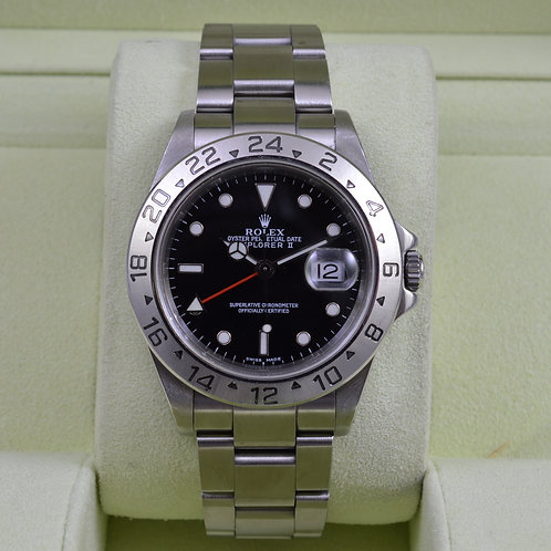 Rolex Explorer II 16570 Black Dial- Fresh Service - Box & Papers