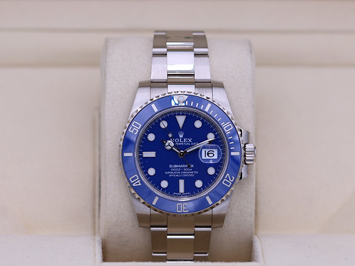 Rolex Submariner 116619 White Gold Blue Dial - 2018 Box & Papers