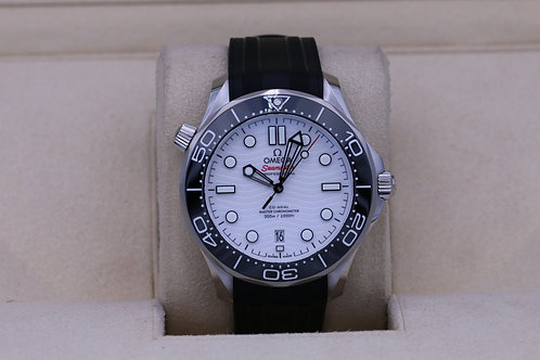 Omega Seamaster 300m Diver Co-Axial White Dial - 2020 Box & Papers