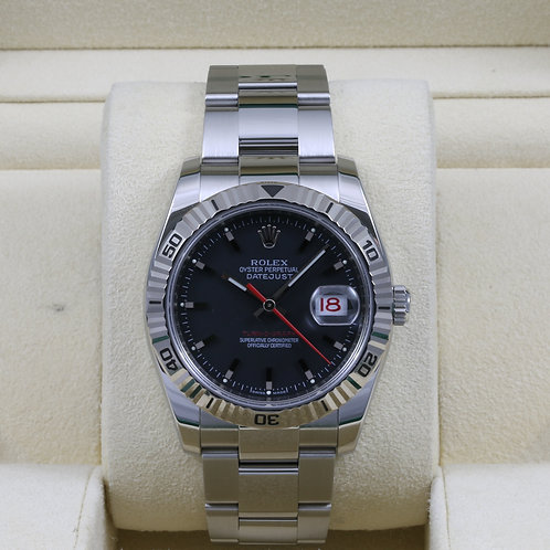 Rolex DateJust Turn-O-Graph 116264 Black Dial 36mm - Box & Papers