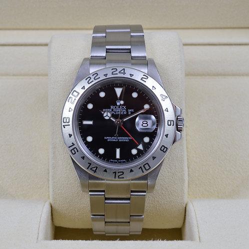 Rolex Explorer II 16570 Black Dial - No Holes Case