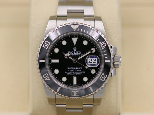 Rolex Submariner Date 116610 Ceramic Black Dial Stainless - 2017 Box & Papers