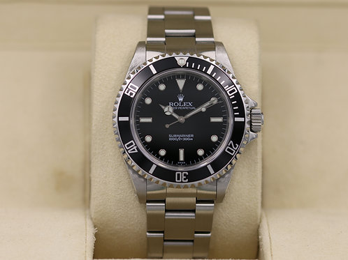 """Rolex Submariner No Date 14060 - A Serial """"Swiss"""" Only Dial - 2018 RSC"""