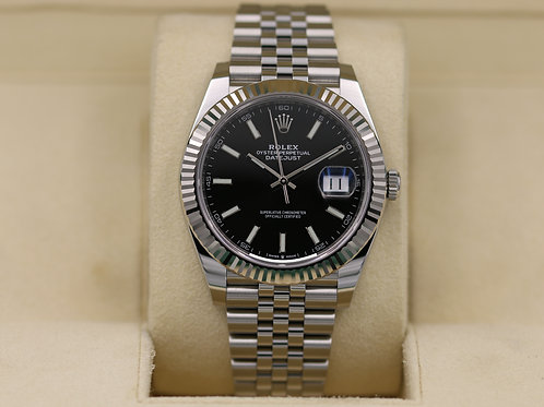 Rolex DateJust 41 126334 Black Dial Jubilee - 2019 Box & Papers