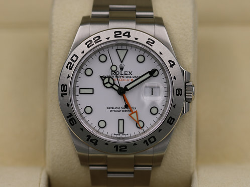 Rolex Explorer II 216570 White Dial Polar 42mm Stainless - 2018 Box & Papers!