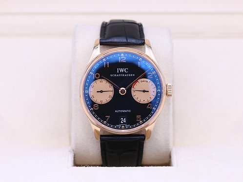 IWC Portuguese IW500121 7 Day Rose Gold Limited Edition - Box & Papers