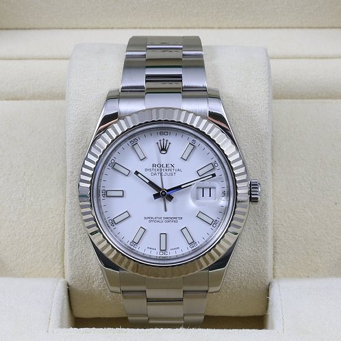 Rolex DateJust II 116334 White Dial - 2014 Box & Papers