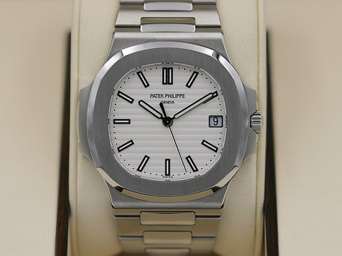Patek Philippe Nautilus 5711/1A-011 SS White Dial - Mint 2017 Box & Papers!