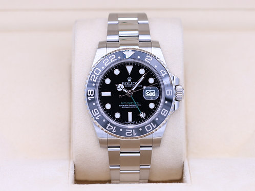 Rolex GMT Master II 116710LN Black Stainless - Box & Papers