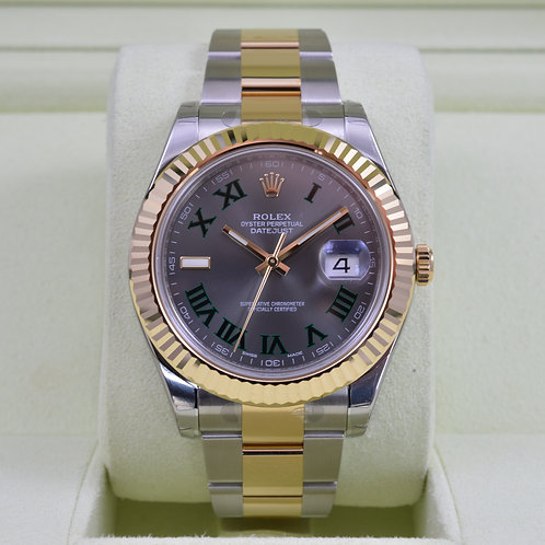 Rolex DateJust II 116333 Slate Roman Dial Two Tone 18K - New - 2016