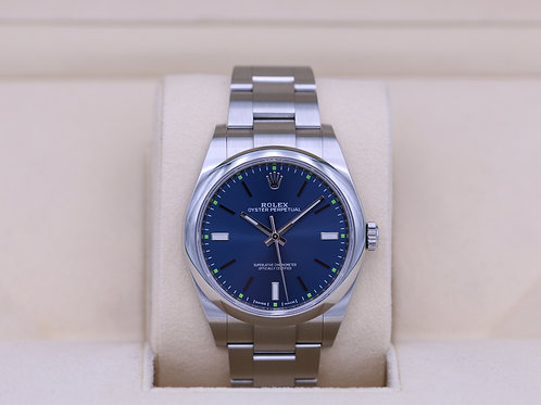 Rolex Oyster Perpetual 114300 Blue Dial 39mm - 2019 Box & Papers
