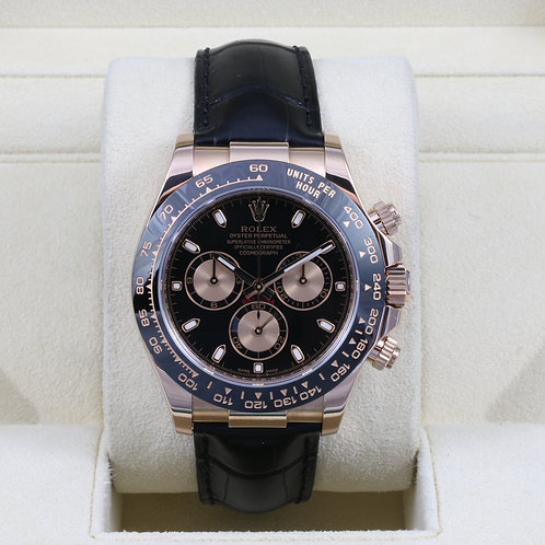 Rolex Daytona 116515 Everose Gold Black Dial - 2016 Box & Papers