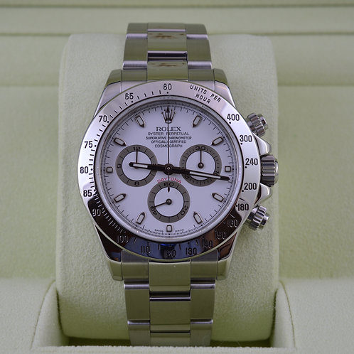 Rolex Daytona 116520 White Dial - Box & Papers