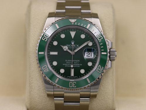 Rolex Submariner 116610LV Green Dial Ceramic Bezel Hulk - Box & Papers
