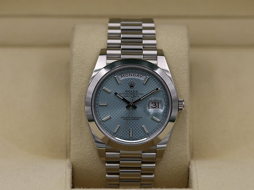 Rolex Day-Date 40 228206 Platinum Ice Blue Dial - 2019 Box & Papers