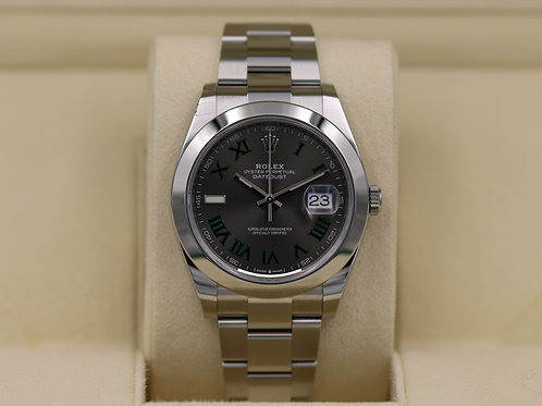 Rolex DateJust 41 126300 Slate Roman Dial Stainless - 2019 Box & Papers