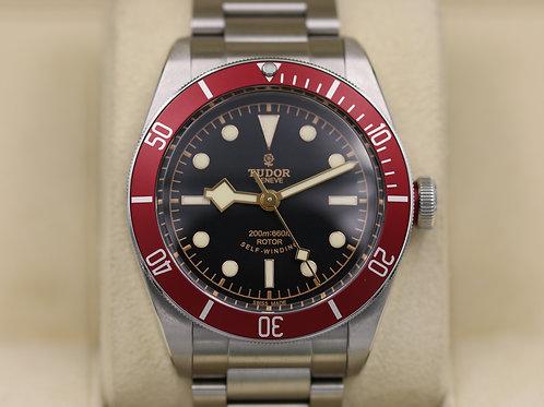 Tudor Heritage Black Bay Red 79220R Bracelet ETA Rose Dial - Box & Papers