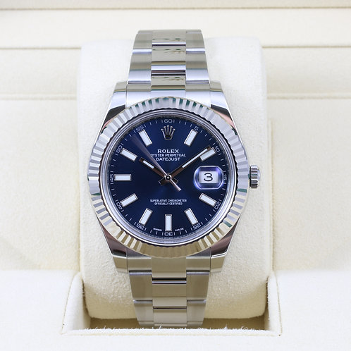 Rolex DateJust II 116334 Blue Stick Dial - 2016 Box & Papers