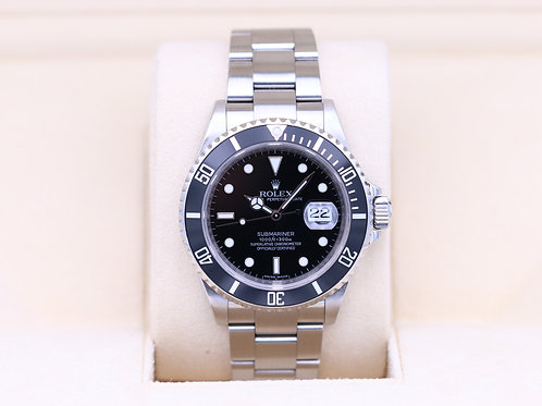 Rolex Submariner Date 16610 Black Dial - M Serial - Box & Papers