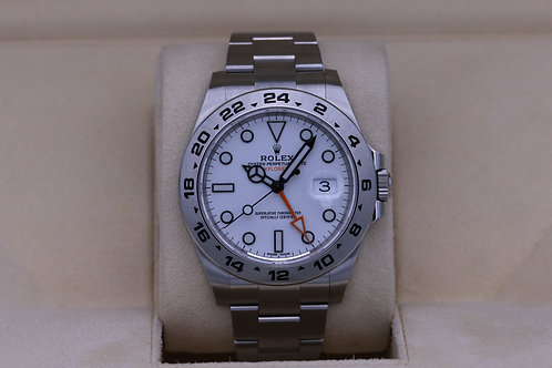 Rolex Explorer II 216570 White Dial 42mm Stainless - 2020 Box & Papers