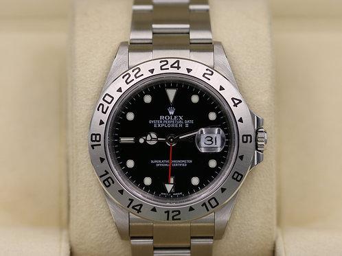 Rolex Explorer II 16570 Black Dial Y Serial Holes Case SEL - Box & Papers