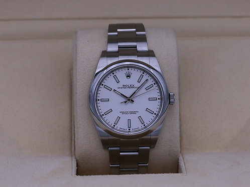 Rolex Oyster Perpetual 114300 White Dial 39mm - 2019 Box & Papers