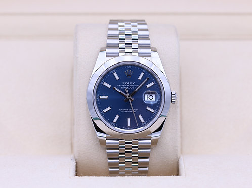 Rolex DateJust 41 126300 Blue Stick Dial Jubilee - 2020 Box & Papers