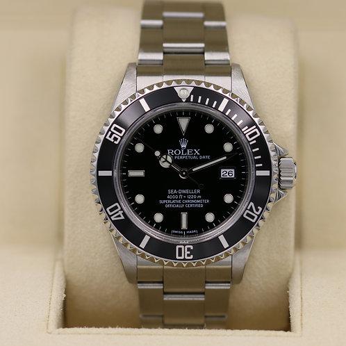 Rolex Sea-Dweller 16600 - F Serial No Holes - Box & Papers