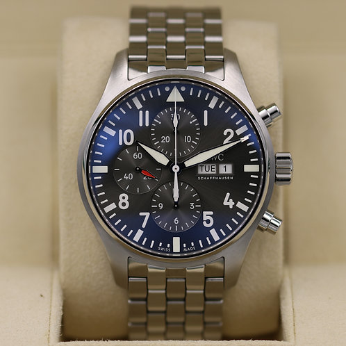 IWC Pilot's Chronograph Spitfire IW377719 Grey Dial 43mm - 2017 Box & Papers  ""