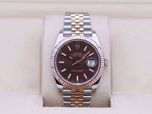 Rolex DateJust 41 126331 Two Tone Rose Gold Jubilee Chocolate - Complete