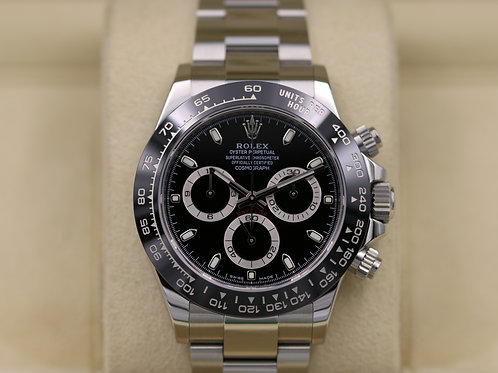 Rolex Daytona 116500 Ceramic Black Dial Stainless Steel - 2017 Box & Papers!