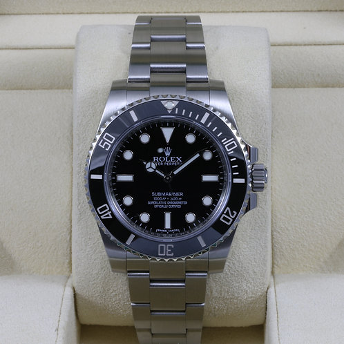 Rolex Submariner No Date 114060 - 2016 Box & Papers