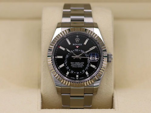 Rolex Sky-Dweller 326934 Stainless Steel Black Dial - 2018 Box & Papers