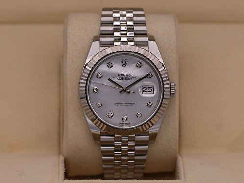 Rolex DateJust 41 126334 Mother of Pearl Diamond Dial - 2019 Box & Papers