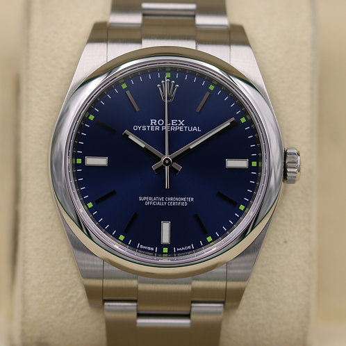 Rolex Oyster Perpetual 114300 Blue Dial 39mm - 2018 Box & Papers