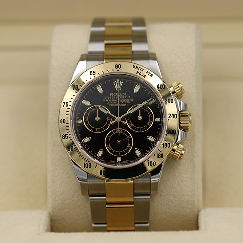 Rolex Daytona 116523 Two Tone Black Dial - 2015 Box & Papers