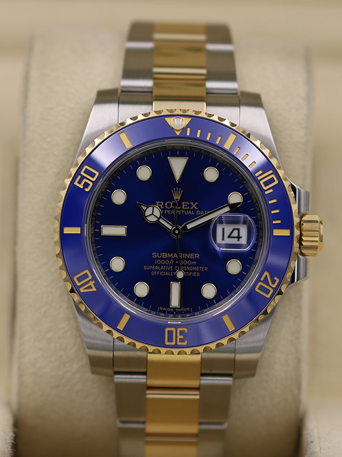 Rolex Submariner 116613LB Two Tone Blue Dial Bluesy - 2017 Box & Papers