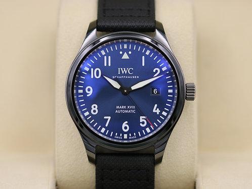 IWC Pilot Mark XVIII Edition Laureus Ceramic Blue Dial 324703 - 2018 Box & Paper