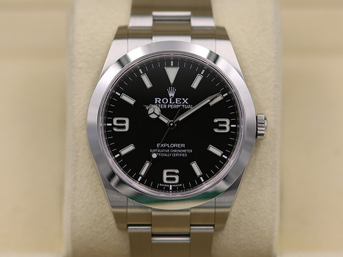 Rolex Explorer I 214270 39mm Full Lume Dial - 2017 Box & Papers
