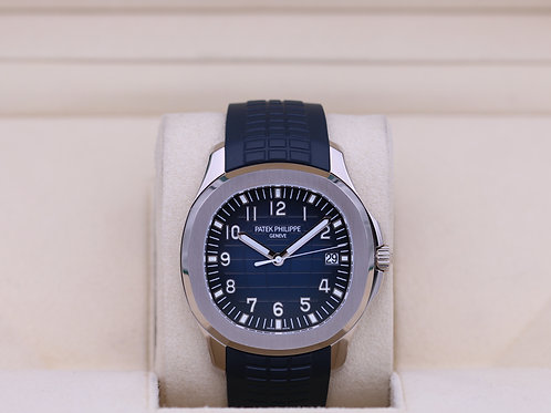Patek Philippe Aquanaut 5168G White Gold Blue Dial - Box & Papers