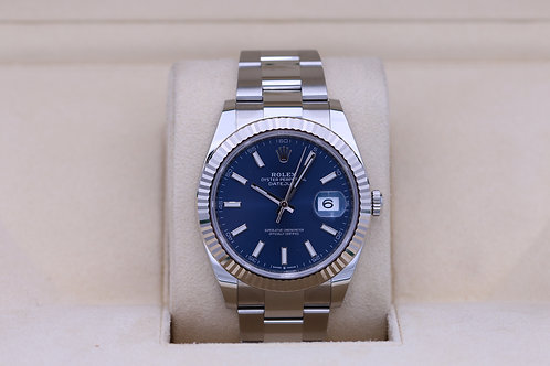 Rolex DateJust 41 126334 Blue Stick Dial Oyster - 2020 Box & Papers