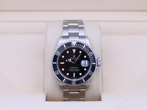 Rolex Submariner Date 16610 Black Dial Stainless - Box & Papers
