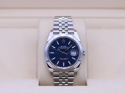 Rolex DateJust 41 126300 Blue Stick Dial Jubilee - 2019 Box & Papers