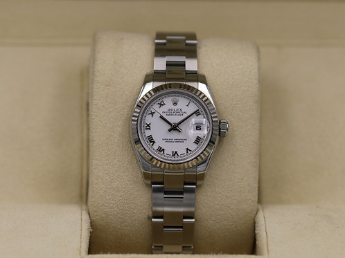 Rolex DateJust 179174 26mm Women's White Roman Dial